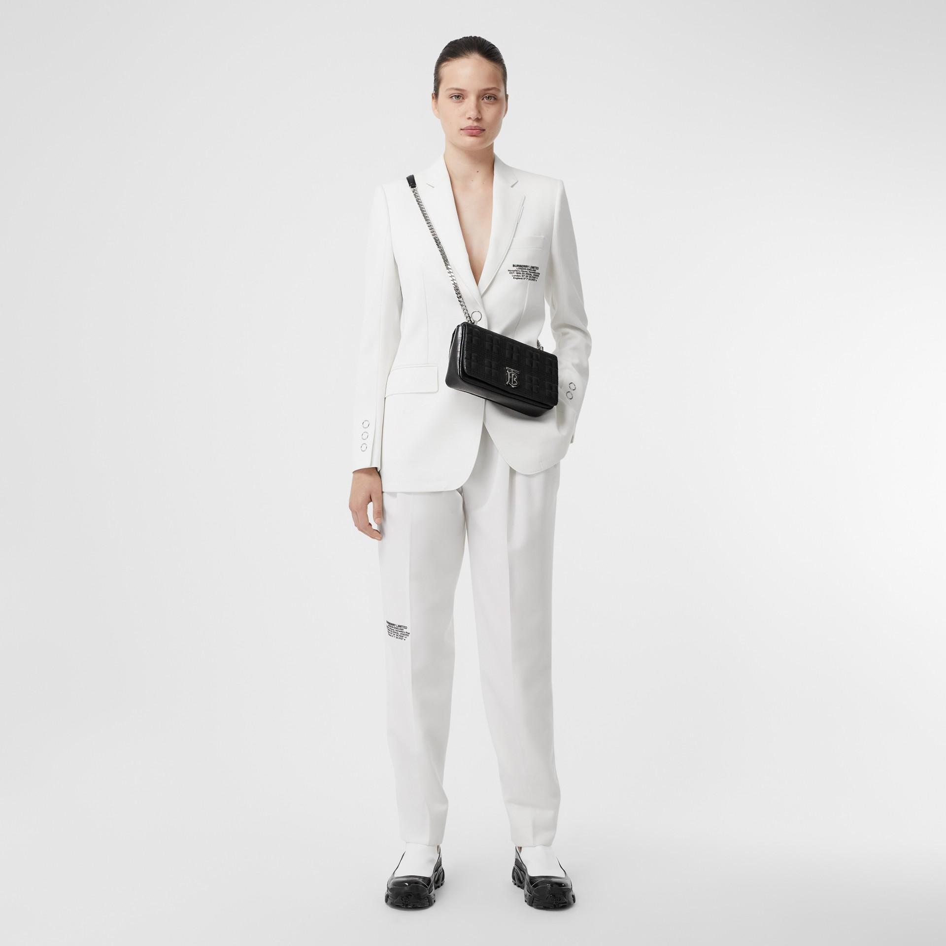 Bolsa Lola acolchoada em couro granulado - Pequena (Preto) | Burberry - galeria de imagens 6