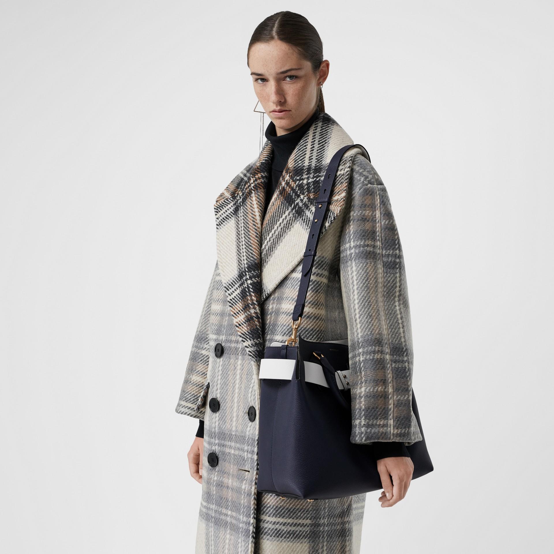 The Medium Leather Belt Bag in Regency Blue - Women | Burberry - gallery image 3
