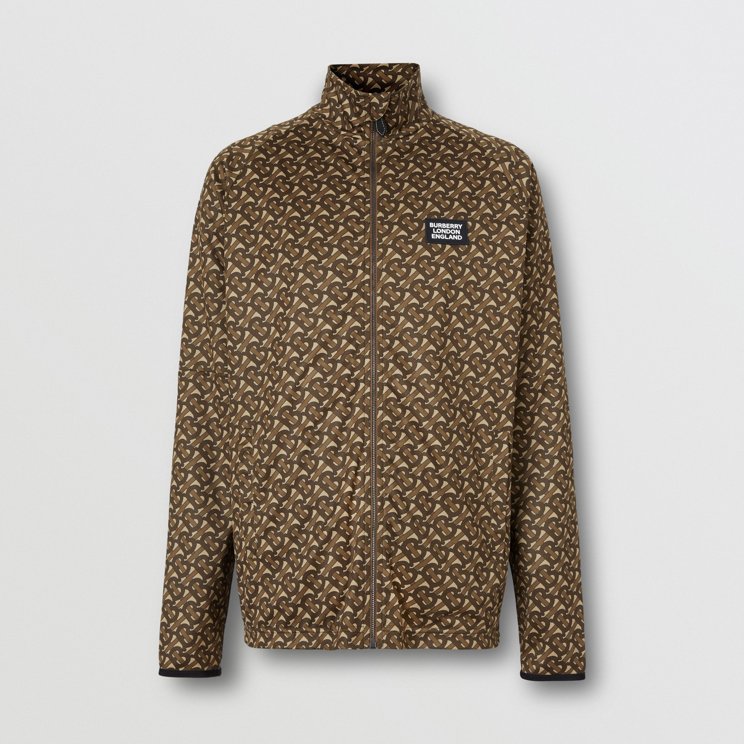 Monogram Print Technical Twill Track Top - Men | Burberry - 4