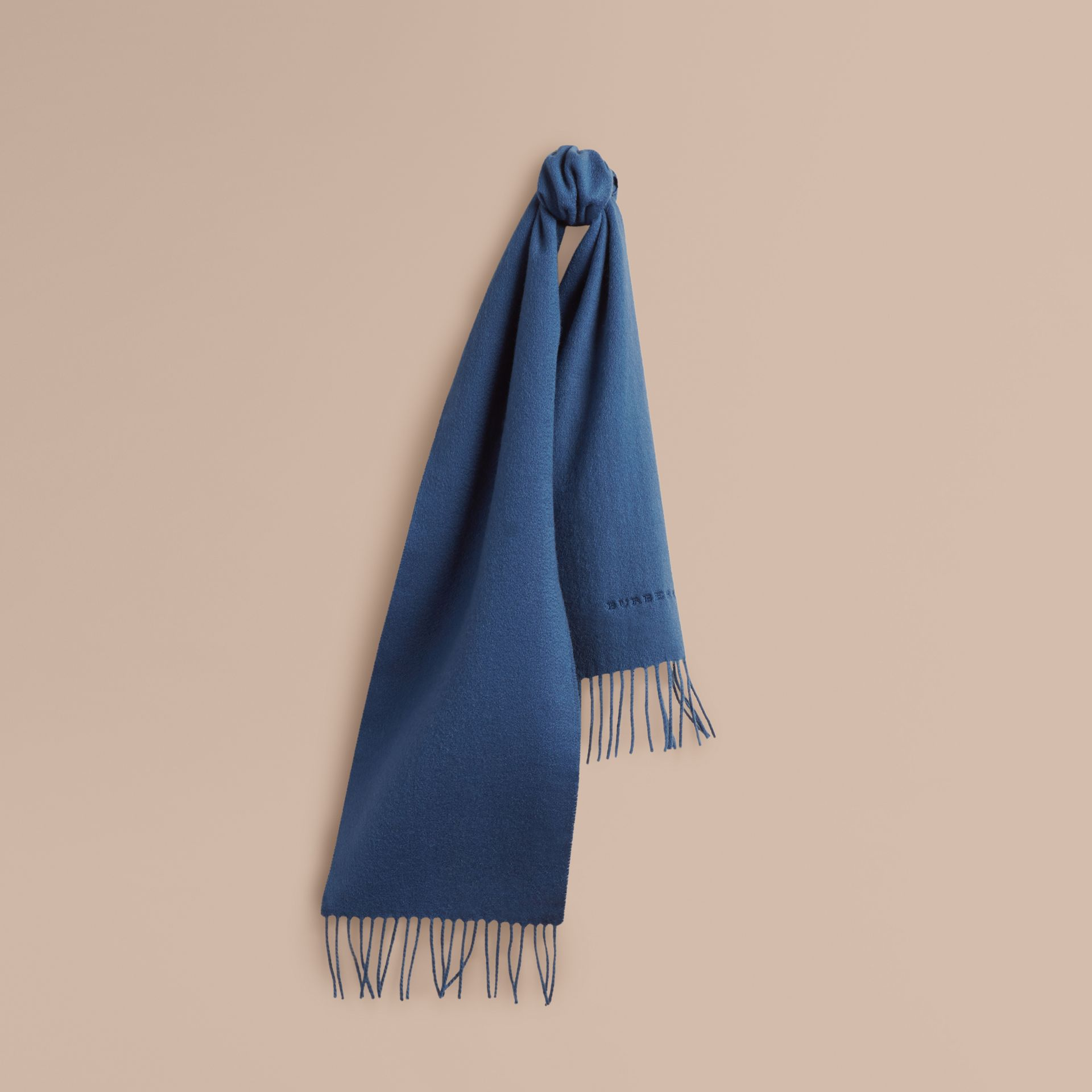 Cadet blue The Mini Classic Cashmere Scarf Cadet Blue - gallery image 1