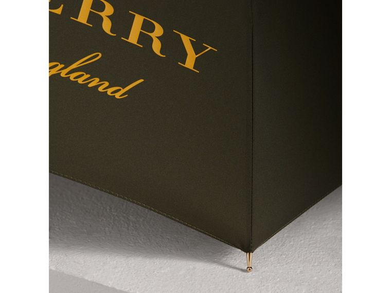 Dégradé Handle Umbrella in Olive | Burberry United Kingdom - cell image 2