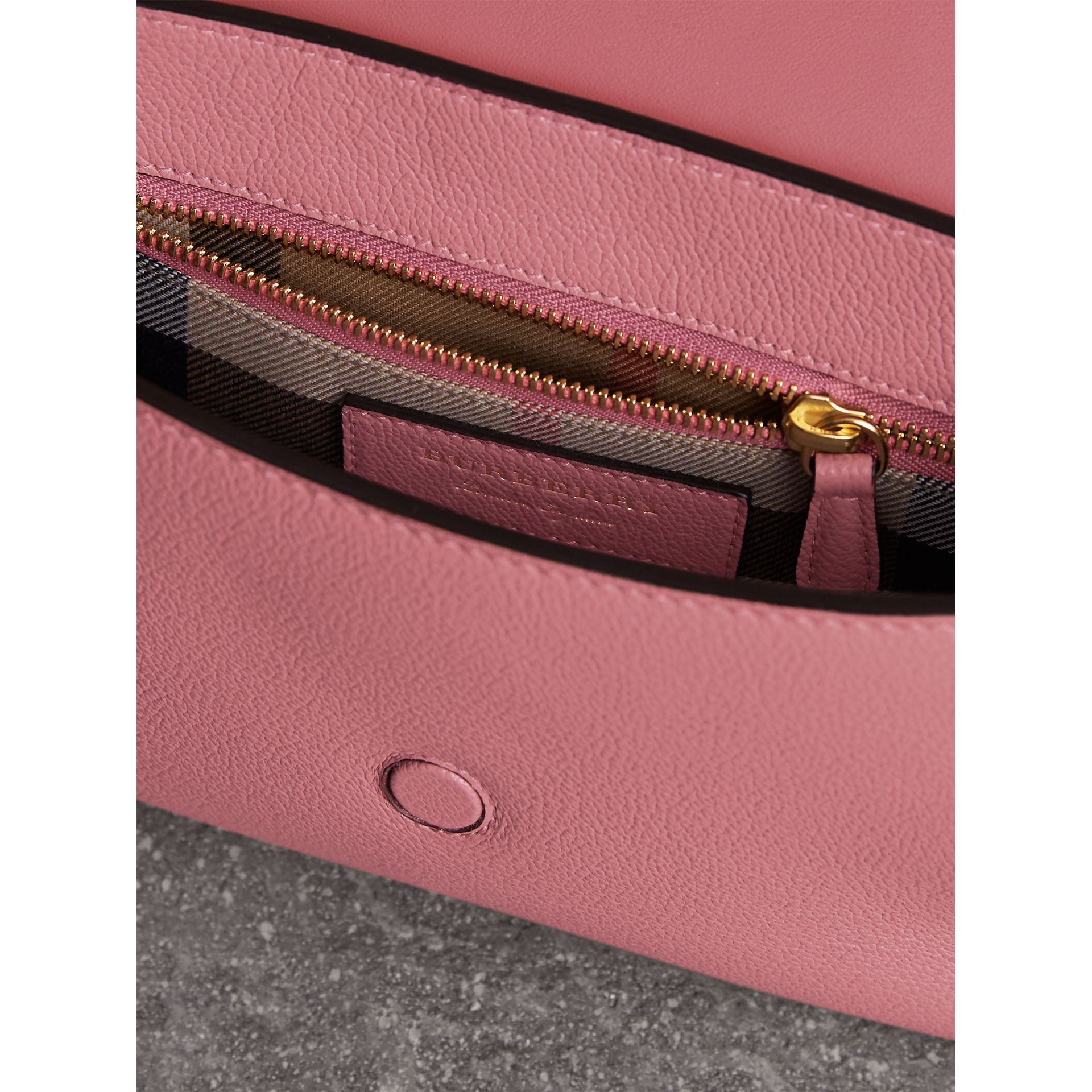 The Buckle Crossbody Bag in Leather in Dusty Pink - Women | Burberry - gallery image 6
