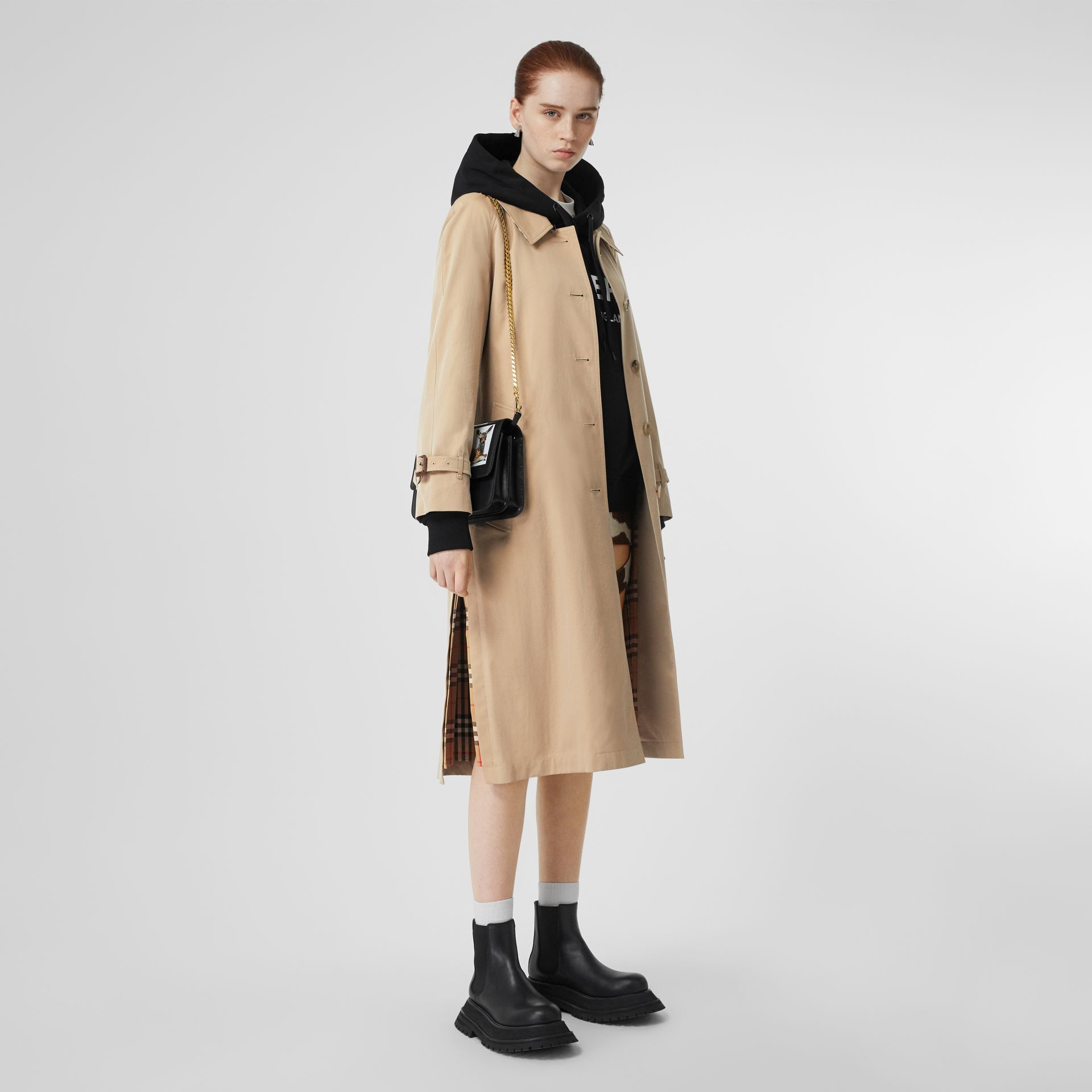 Side-slit Tropical Gabardine Trench Coat in Honey - Women | Burberry United States - gallery image 0