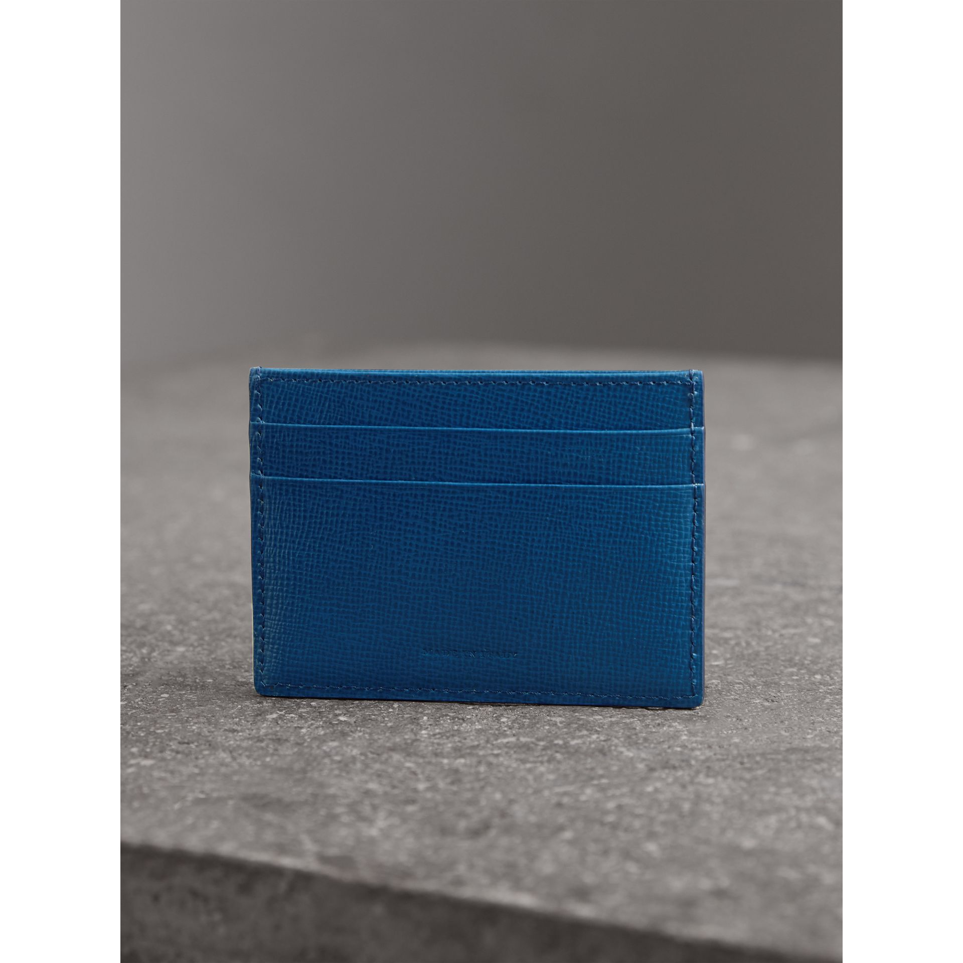 London Leather Card Case in Deep Blue - Men | Burberry - gallery image 3