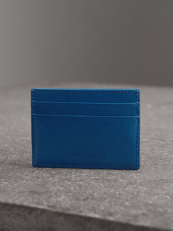 London Leather Card Case in Deep Blue - Men | Burberry United Kingdom - cell image 2