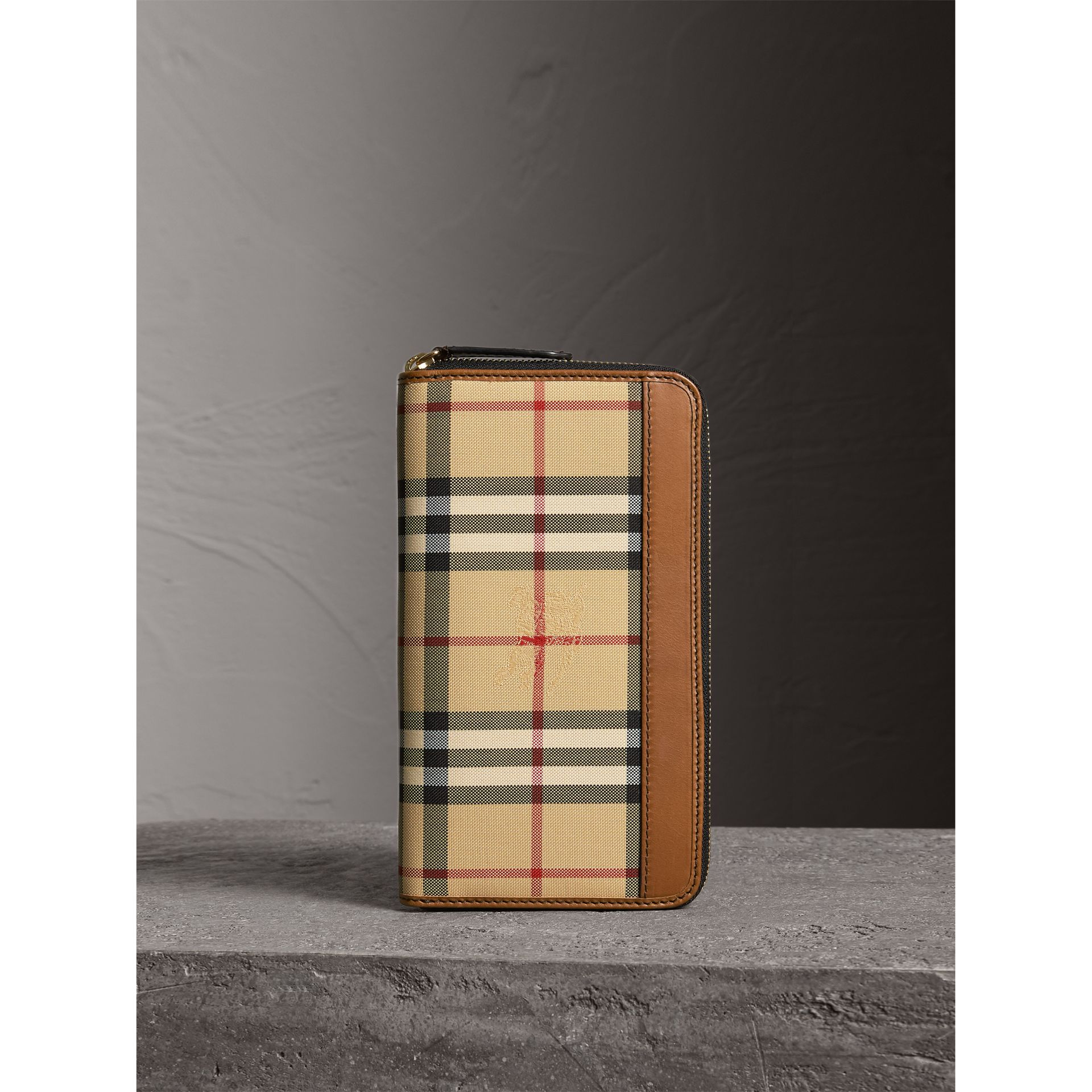 Horseferry Check Ziparound Wallet in Tan - Men | Burberry Singapore - gallery image 5