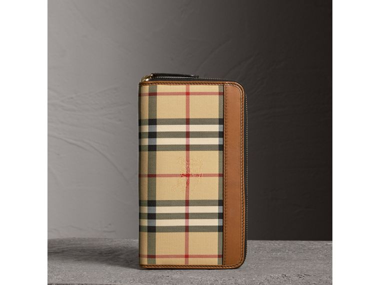 Horseferry Check Ziparound Wallet in Tan - Men | Burberry Singapore - cell image 4