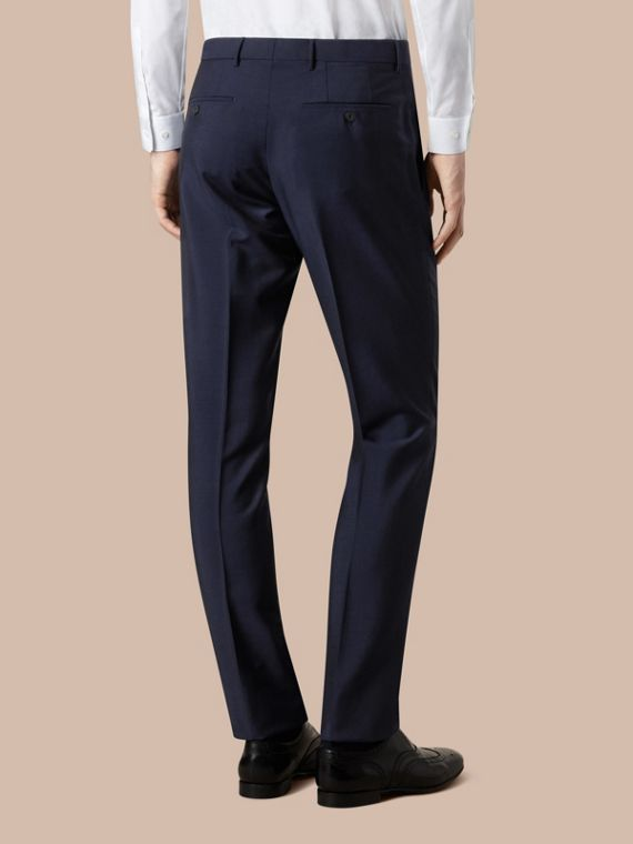 Modern Fit Wool Mohair Trousers Royal Navy - cell image 3