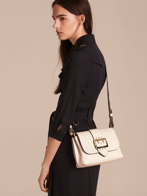 The Buckle Crossbody Bag in Leather in Limestone - cell image 2