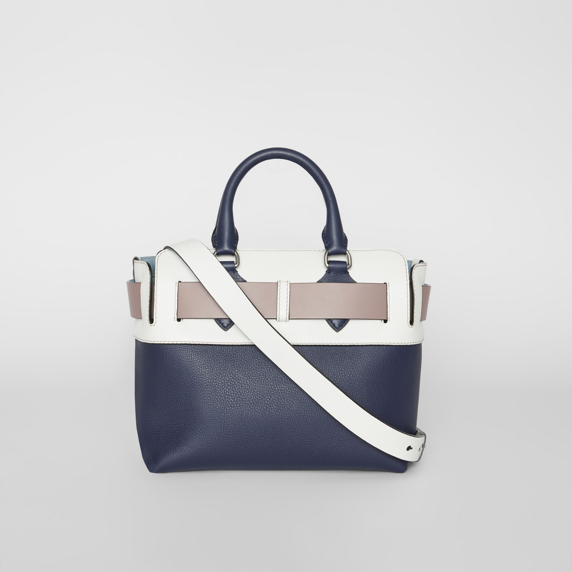 The Small Quadri-tone Leather Belt Bag in Regency Blue/chalk White - Women | Burberry - gallery image 7