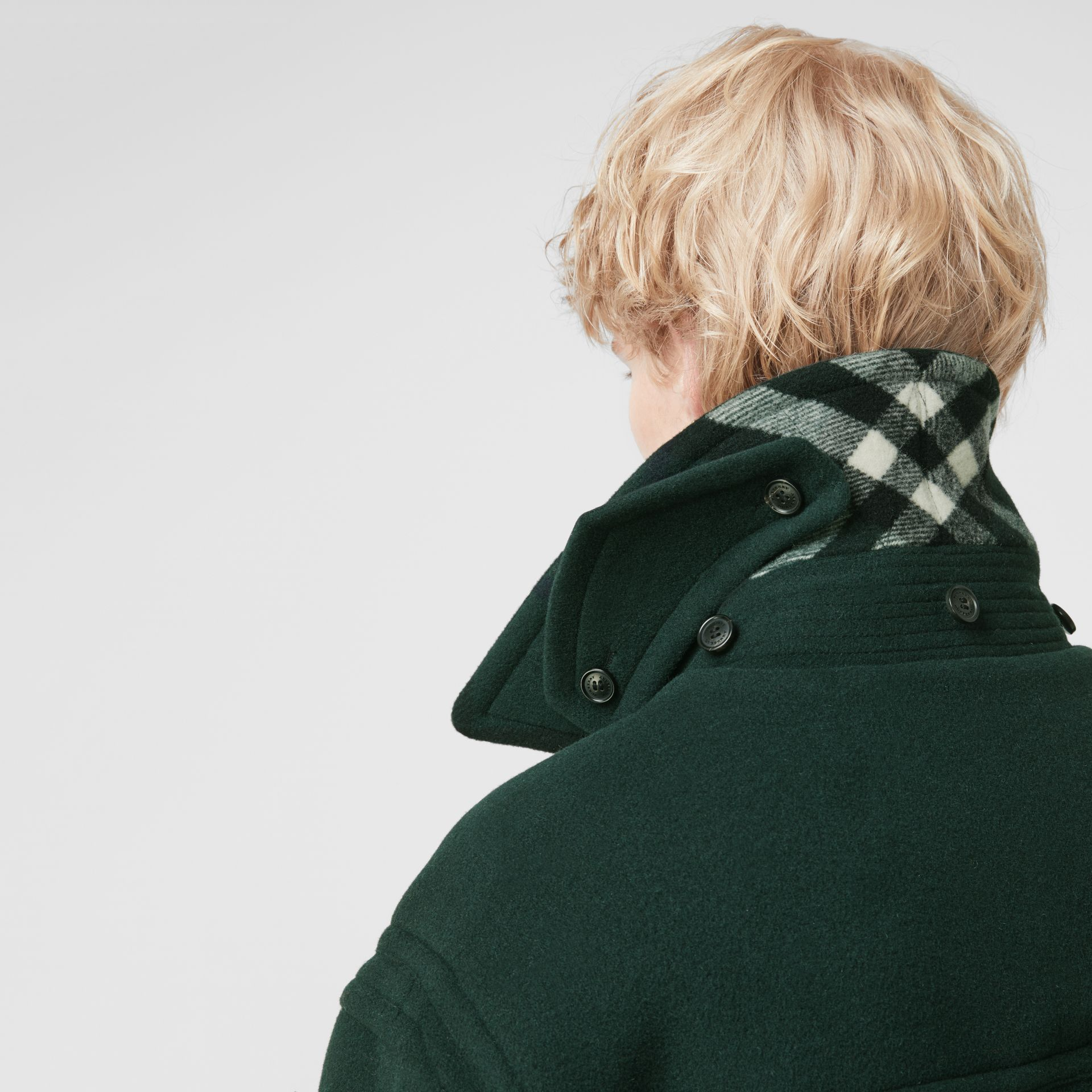 Gosha x Burberry Oversized Duffle Coat in Dark Forest Green | Burberry United Kingdom - gallery image 4