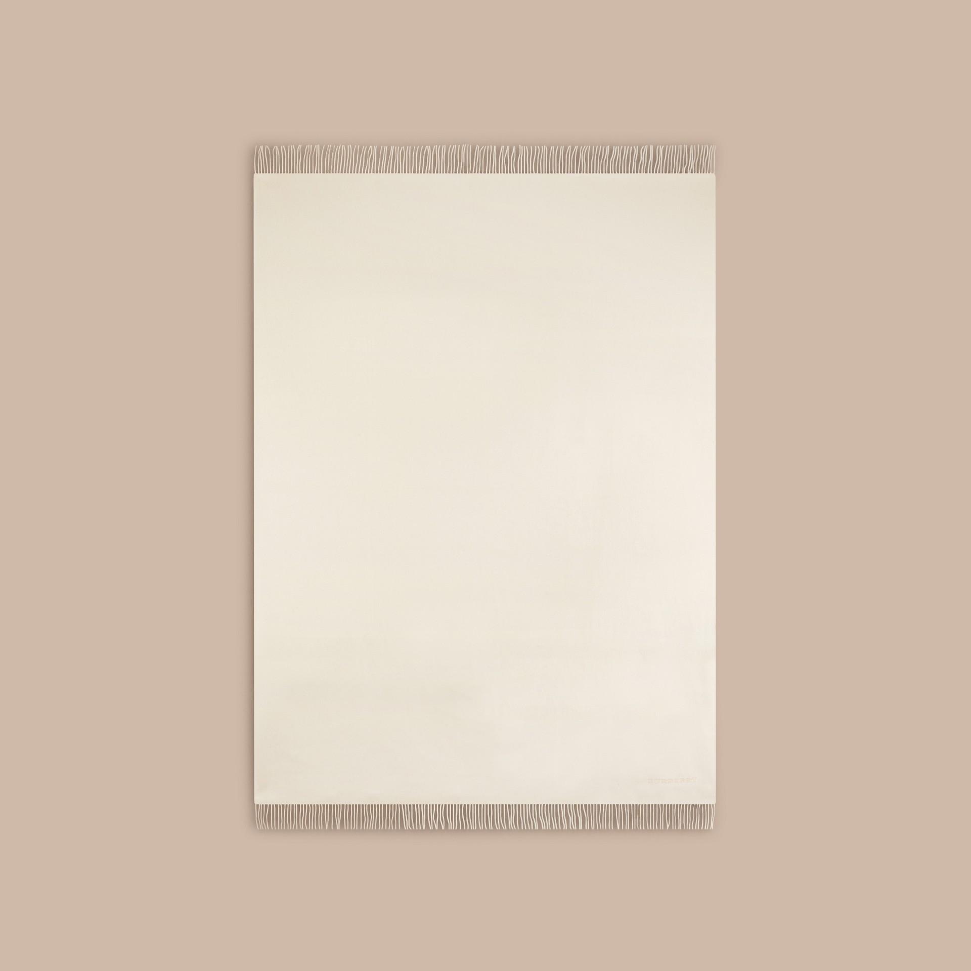 Blanc naturel Couverture en cachemire Blanc Naturel - photo de la galerie 3