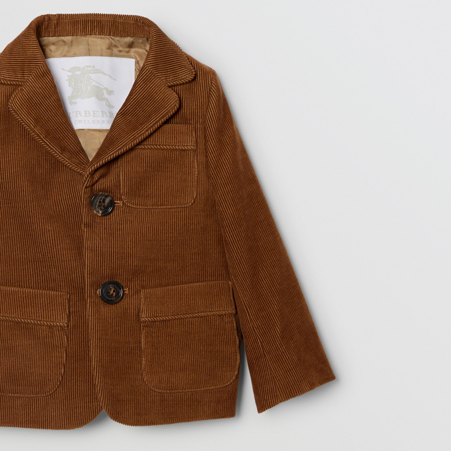 Corduroy Blazer in Camel | Burberry - gallery image 4