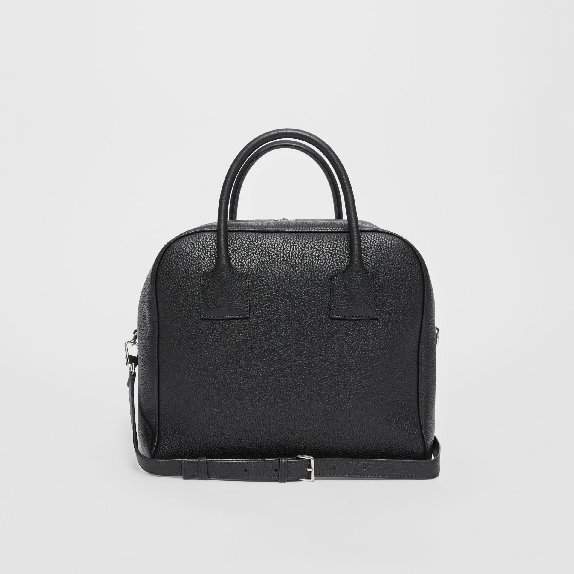 Medium Leather Cube Bag in Black - Women | Burberry United Kingdom - gallery image 7