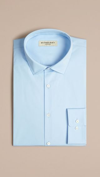 Modern Fit Stretch Cotton Shirt