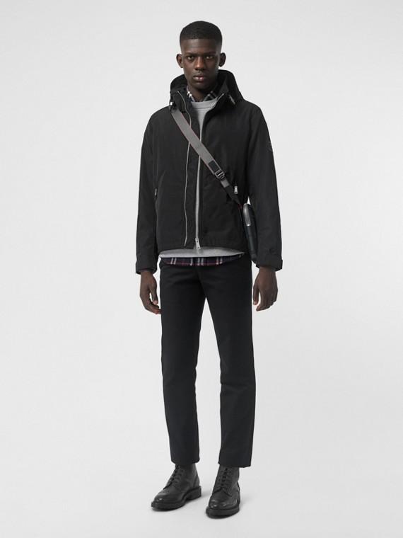 Packaway Hood Showerproof Jacket in Black