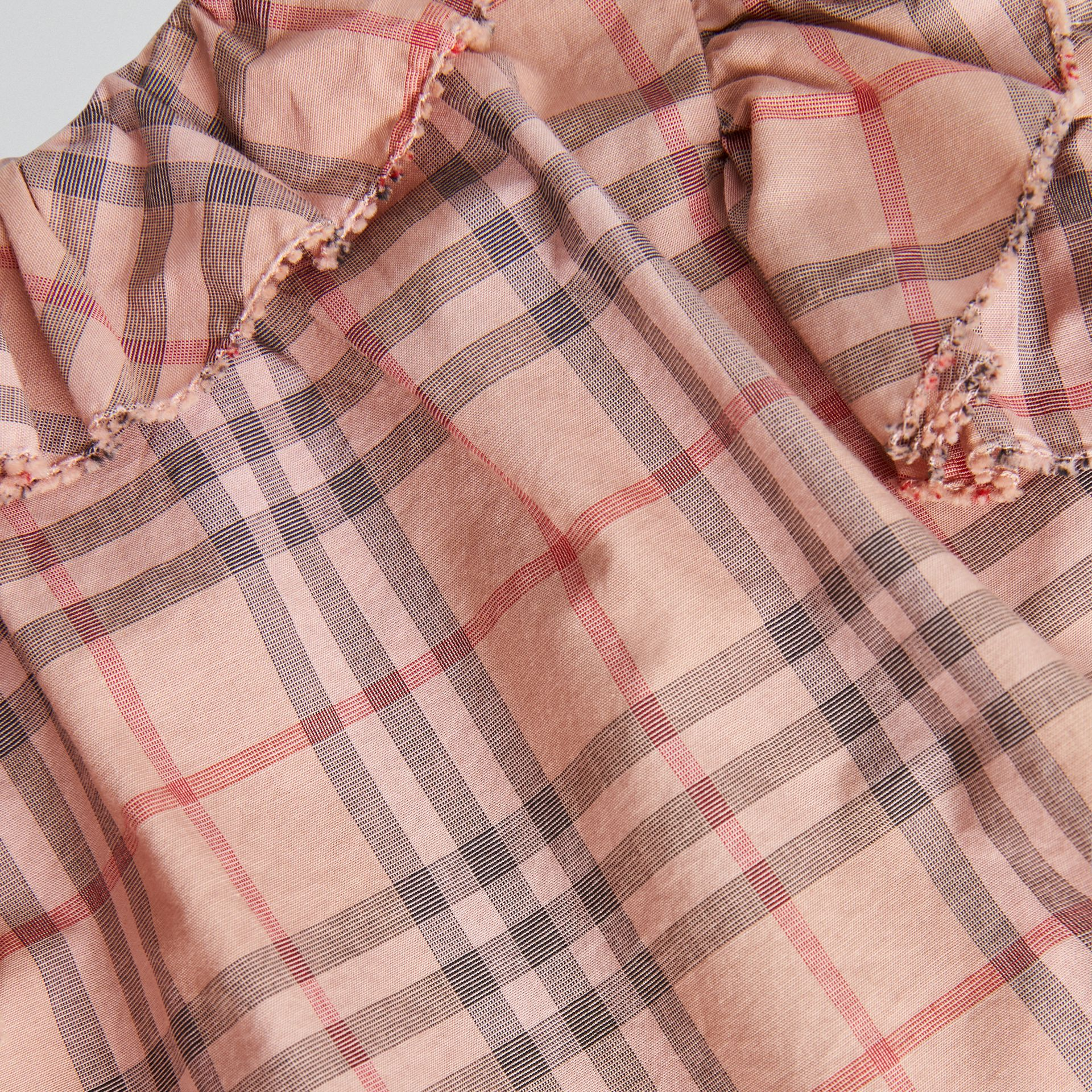 Ruffle Detail Check Cotton Dress with Bloomers in Light Rose - Children | Burberry - gallery image 1