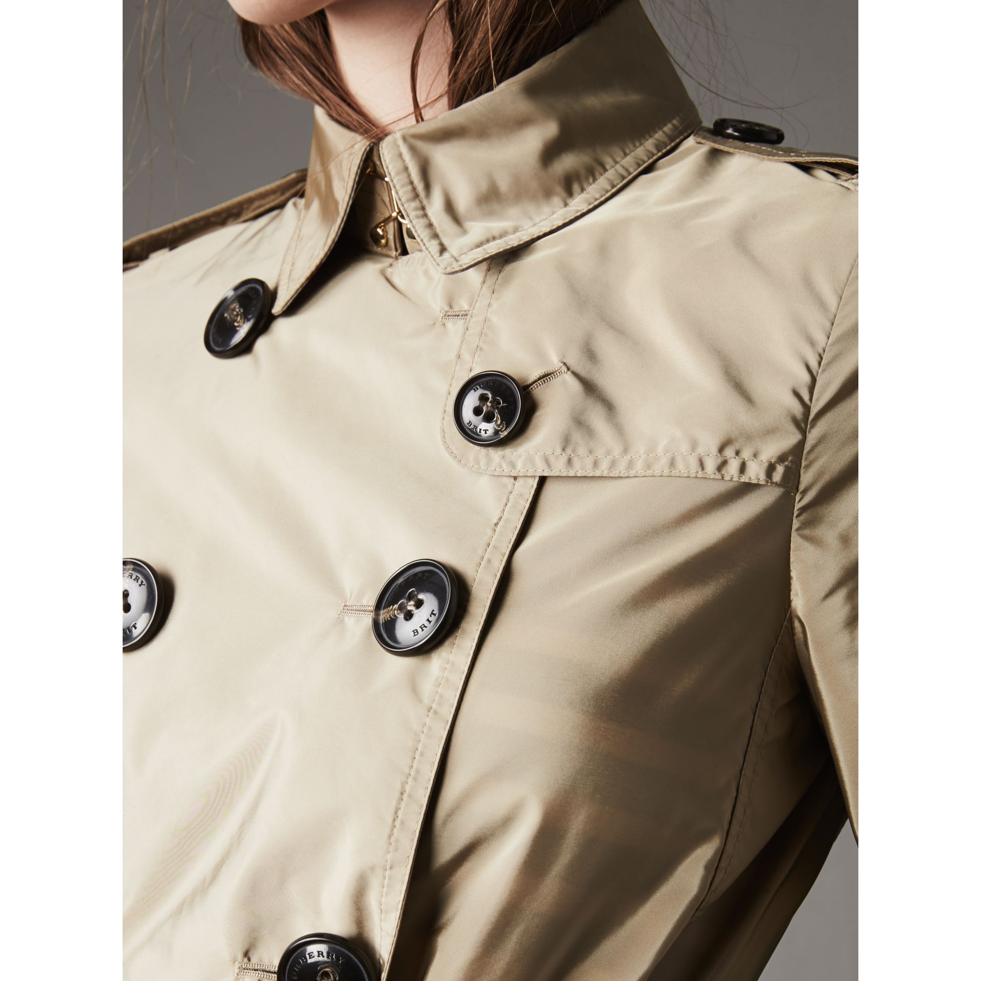 Lightweight Trench Coat in Sisal - gallery image 5
