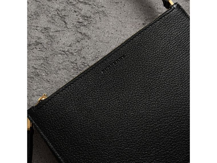 Triple Zip Grainy Leather Crossbody Bag in Black/gold - Women | Burberry Hong Kong - cell image 1