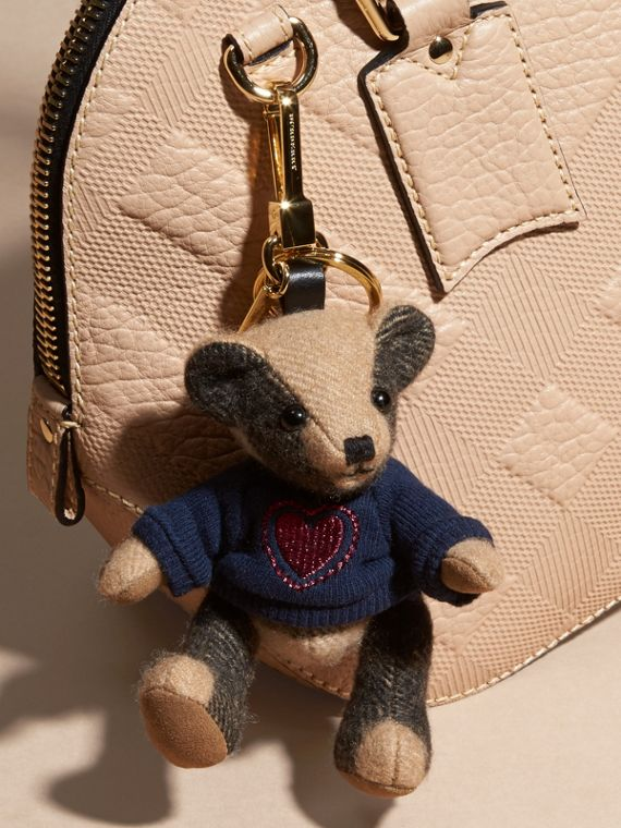 Camel Thomas Bear Charm in Check Cashmere - cell image 2