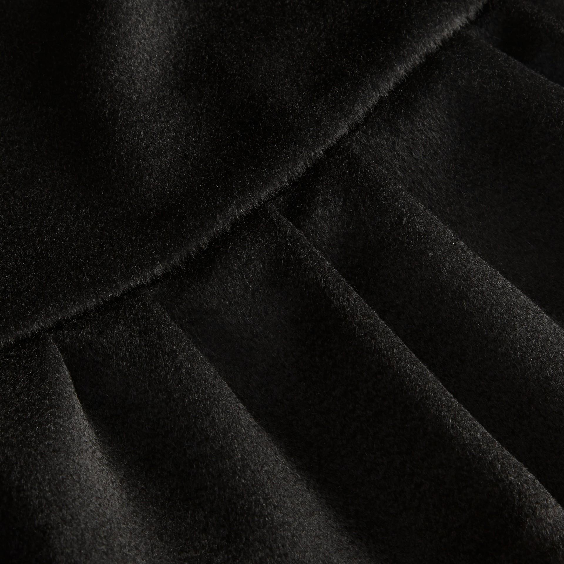 Ruffle Hem Cashmere Cape in Black - gallery image 2