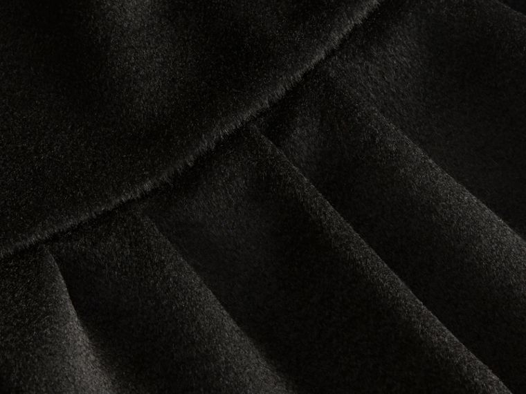 Ruffle Hem Cashmere Cape in Black - cell image 1
