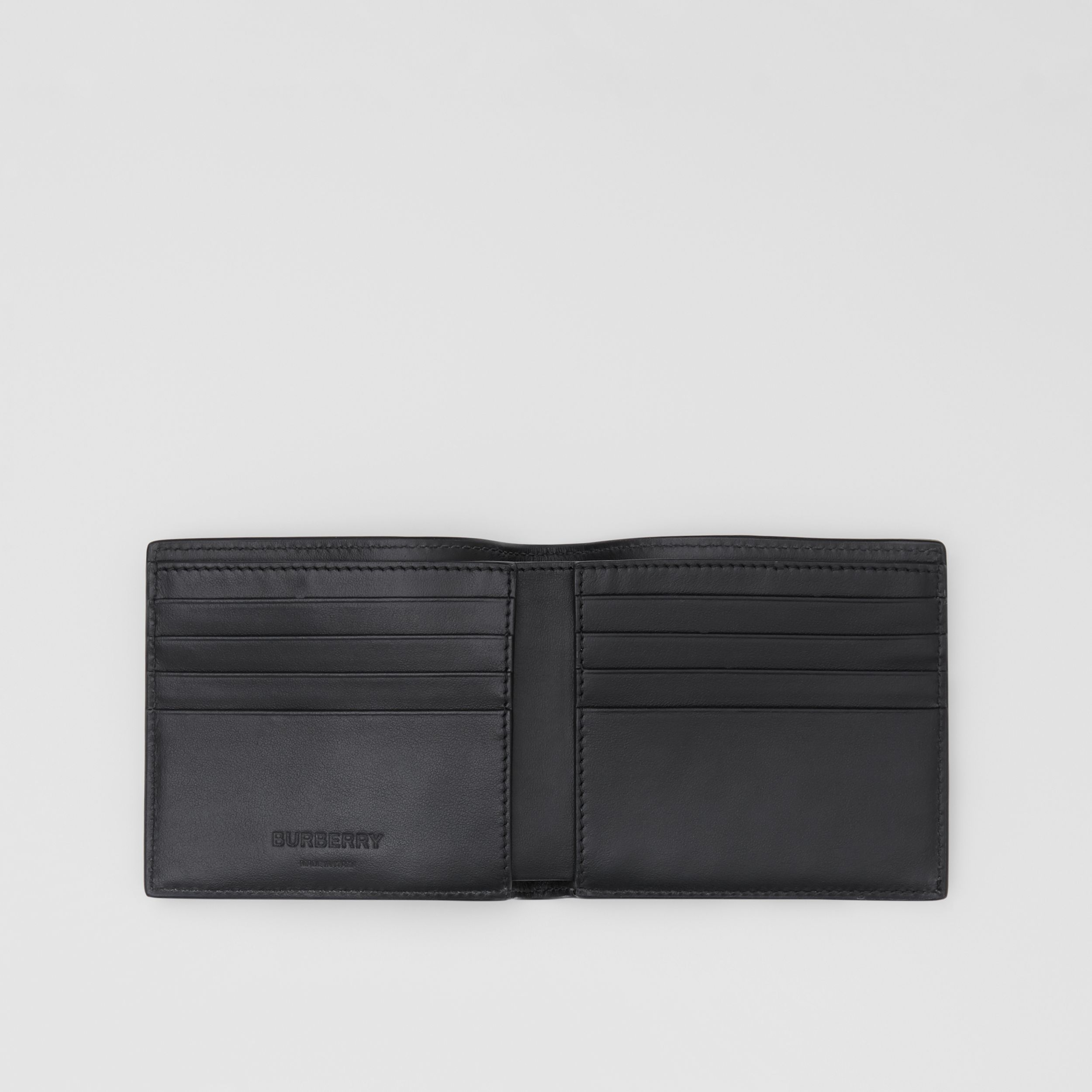Logo and Icon Stripe Print International Bifold Wallet in Black - Men | Burberry - 3