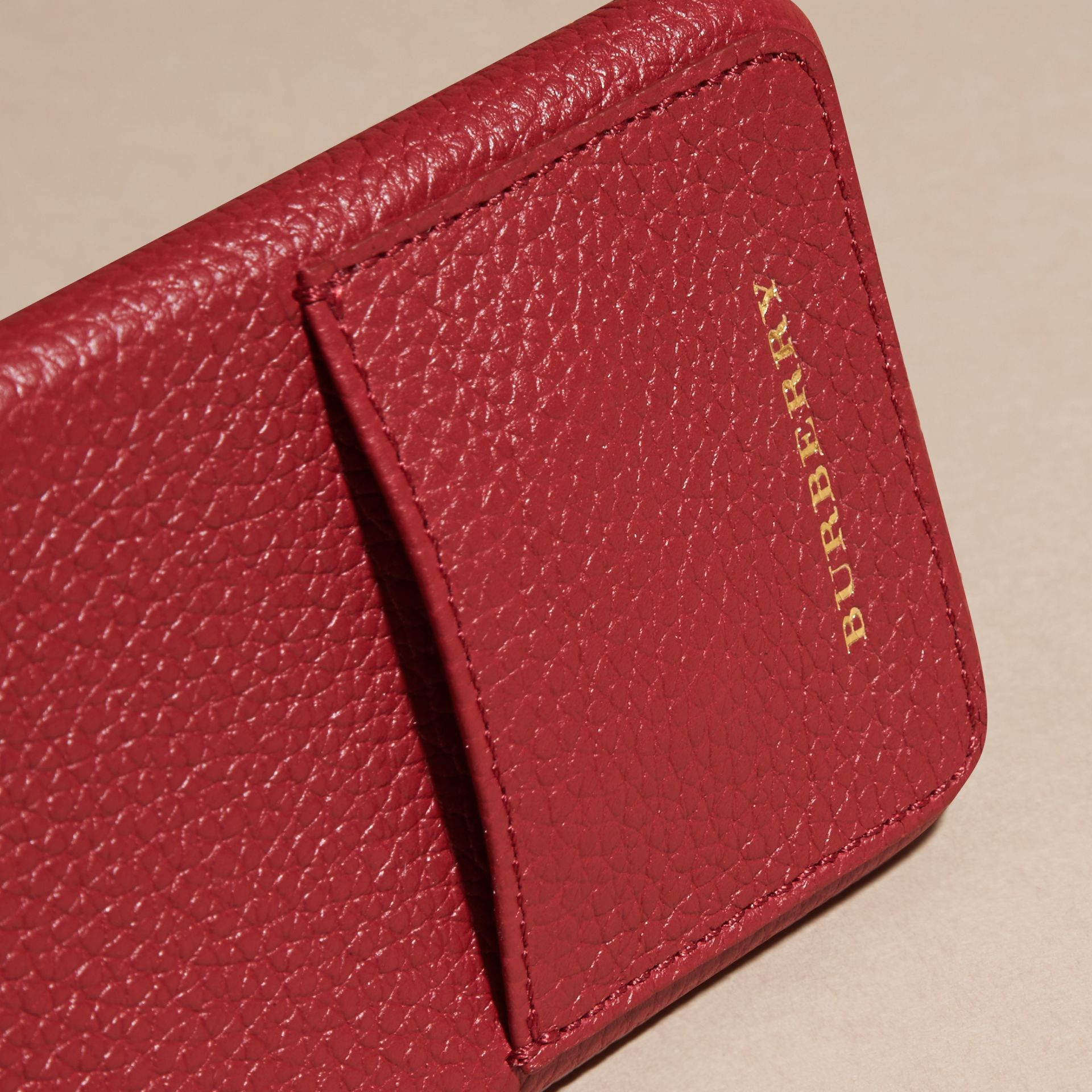 Grainy Leather iPhone 6 Case in Parade Red | Burberry - gallery image 2