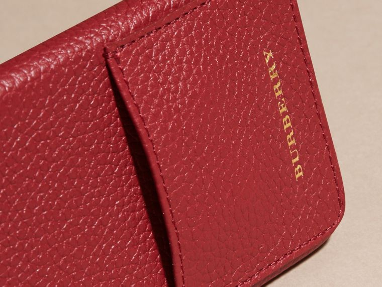Grainy Leather iPhone 6 Case in Parade Red | Burberry - cell image 1