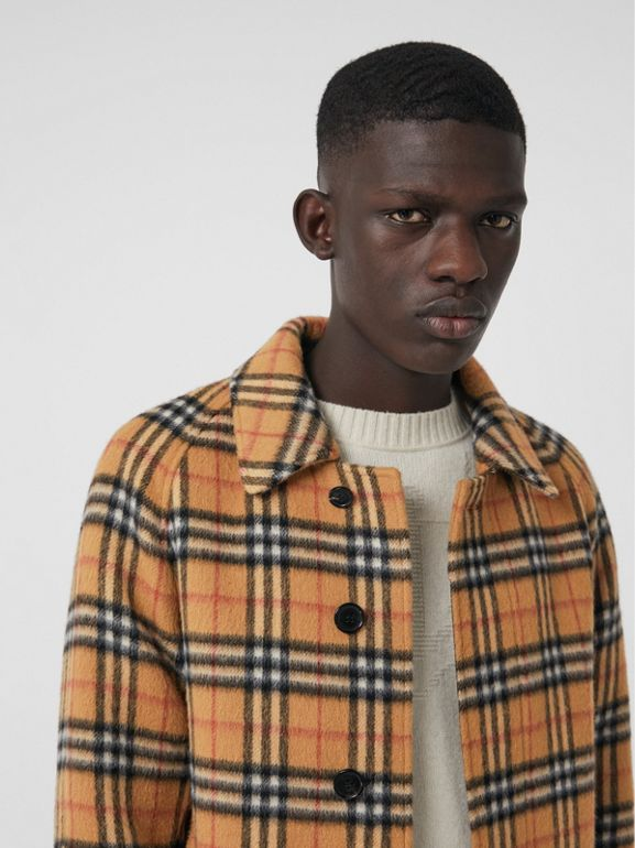 Vintage Check Alpaca Wool Car Coat in Antique Yellow - Men | Burberry Hong Kong - cell image 1