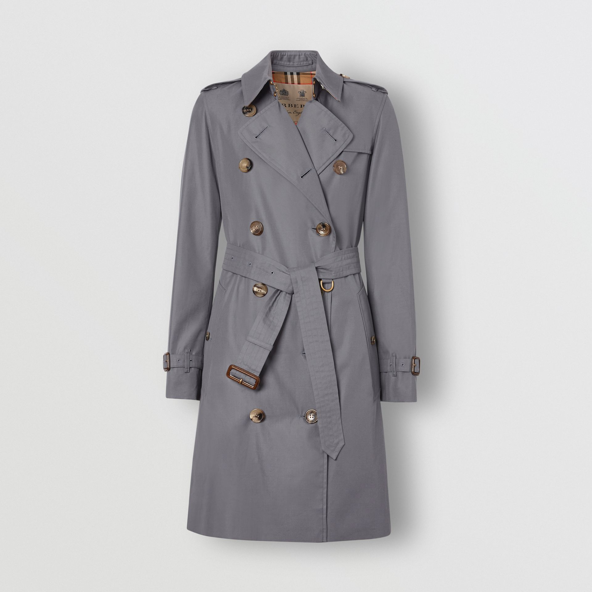 Trench Heritage The Kensington (Gris Moyen) - Femme | Burberry Canada - photo de la galerie 4