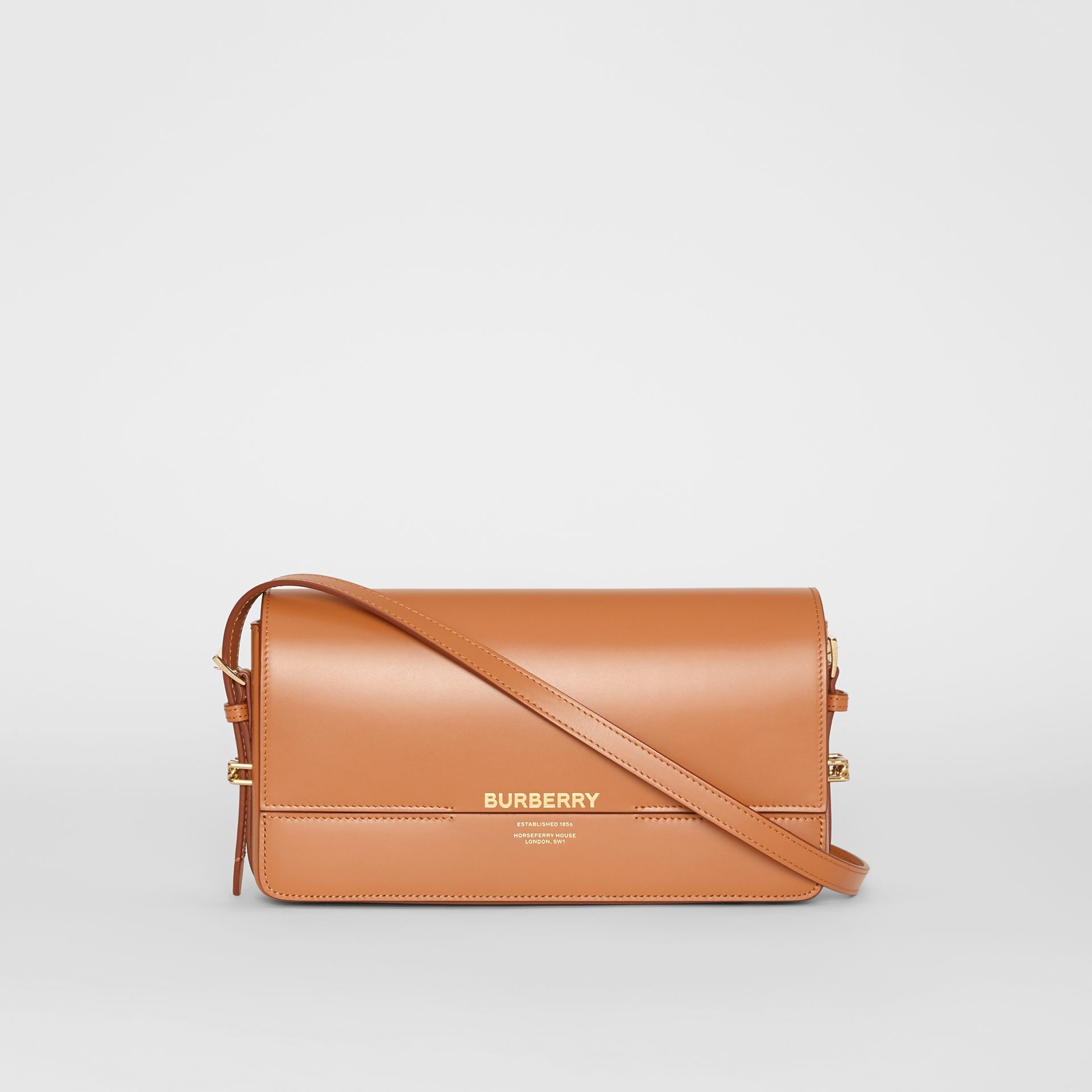 Mini Leather Grace Bag in Nutmeg - Women | Burberry - gallery image 0