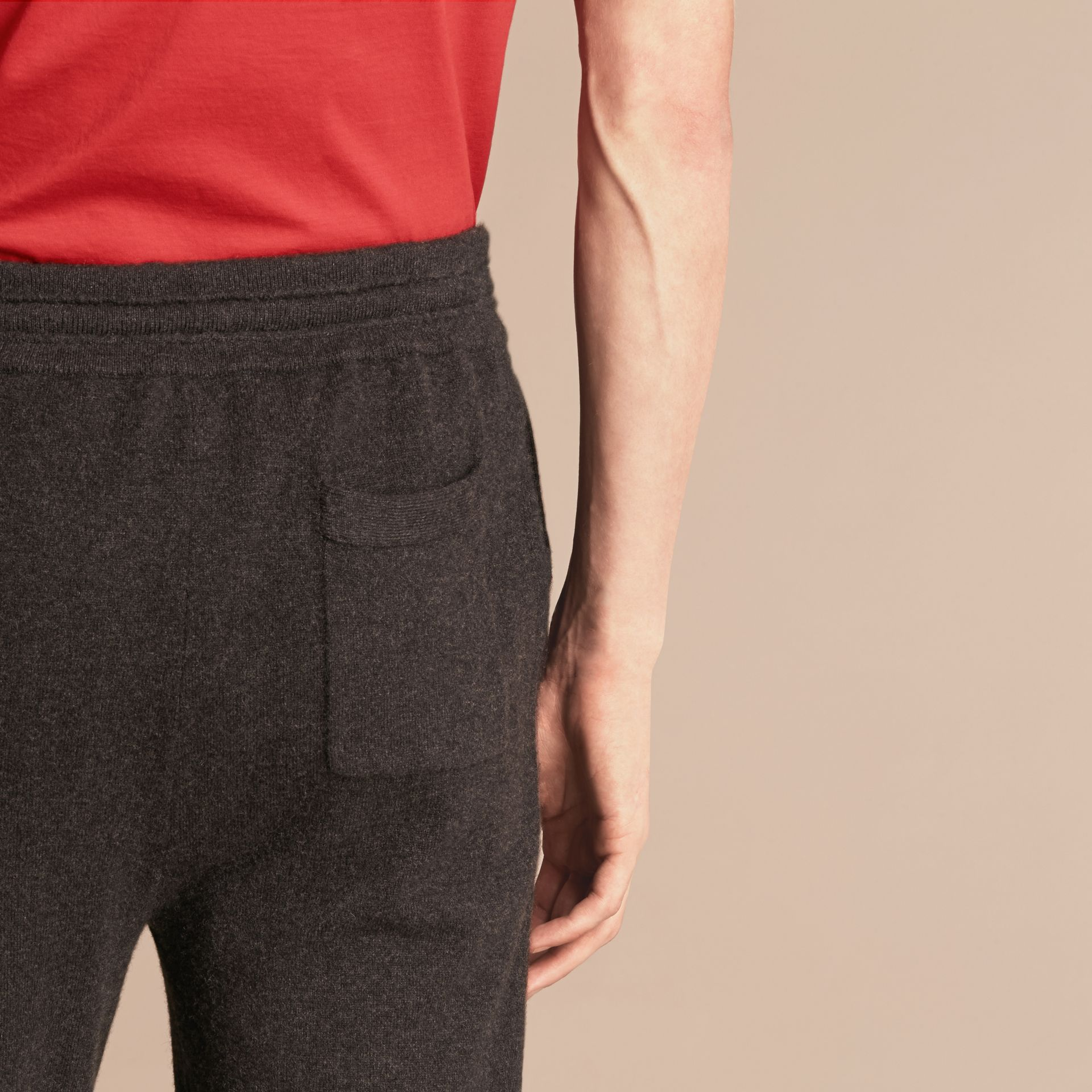 Knitted Cashmere Blend Drawstring Trousers - gallery image 4
