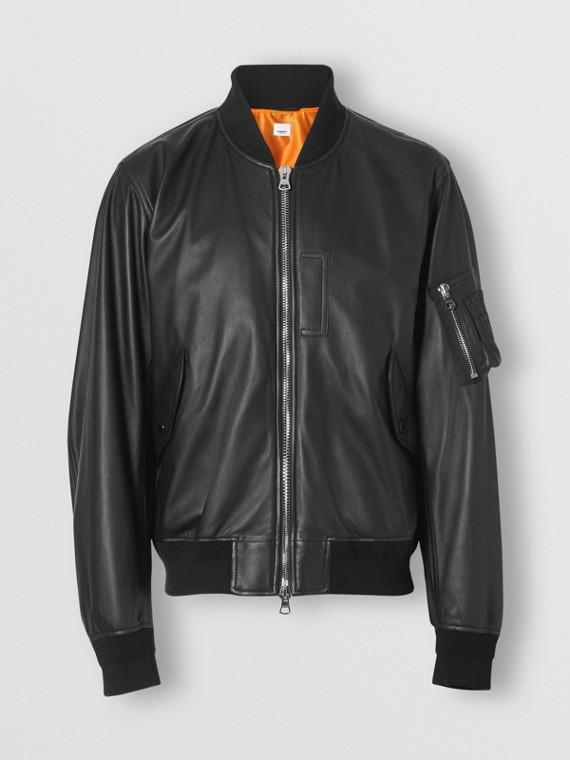 Кожаная куртка «пилот» (Черный)