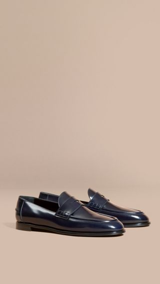 Polished Leather Loafers