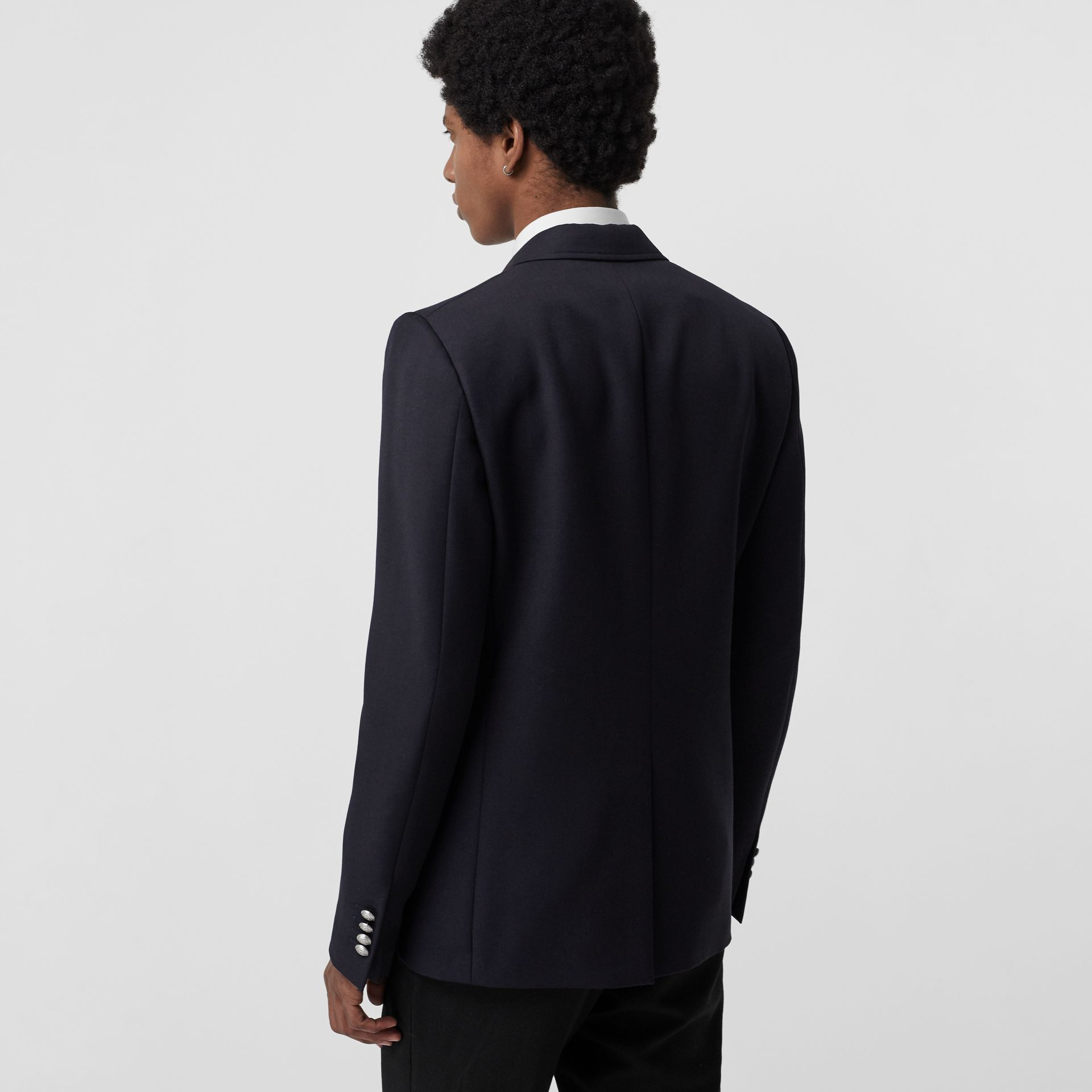 Slim Fit Bullion Floral Wool Gabardine Blazer in Black - Men | Burberry Hong Kong - gallery image 2