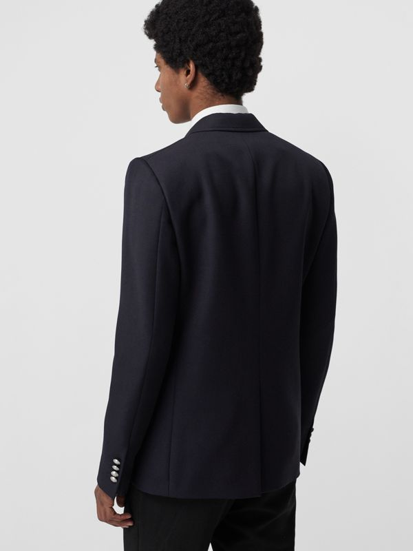 Slim Fit Bullion Floral Wool Gabardine Blazer in Black - Men | Burberry Singapore - cell image 2