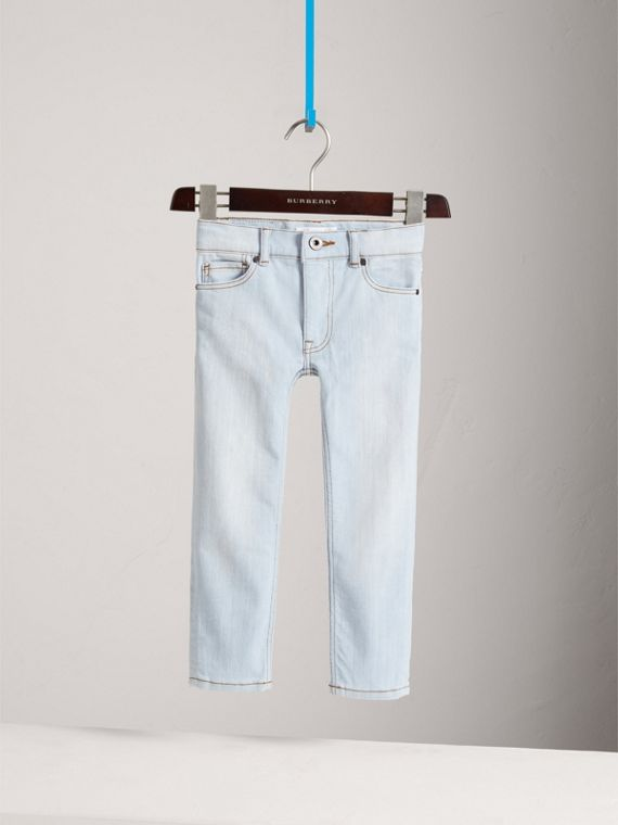 Skinny Fit Stretch Jeans in Light Blue - Boy | Burberry - cell image 2
