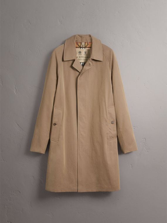 The Camden – Long Car Coat in Taupe Brown - Men | Burberry - cell image 3