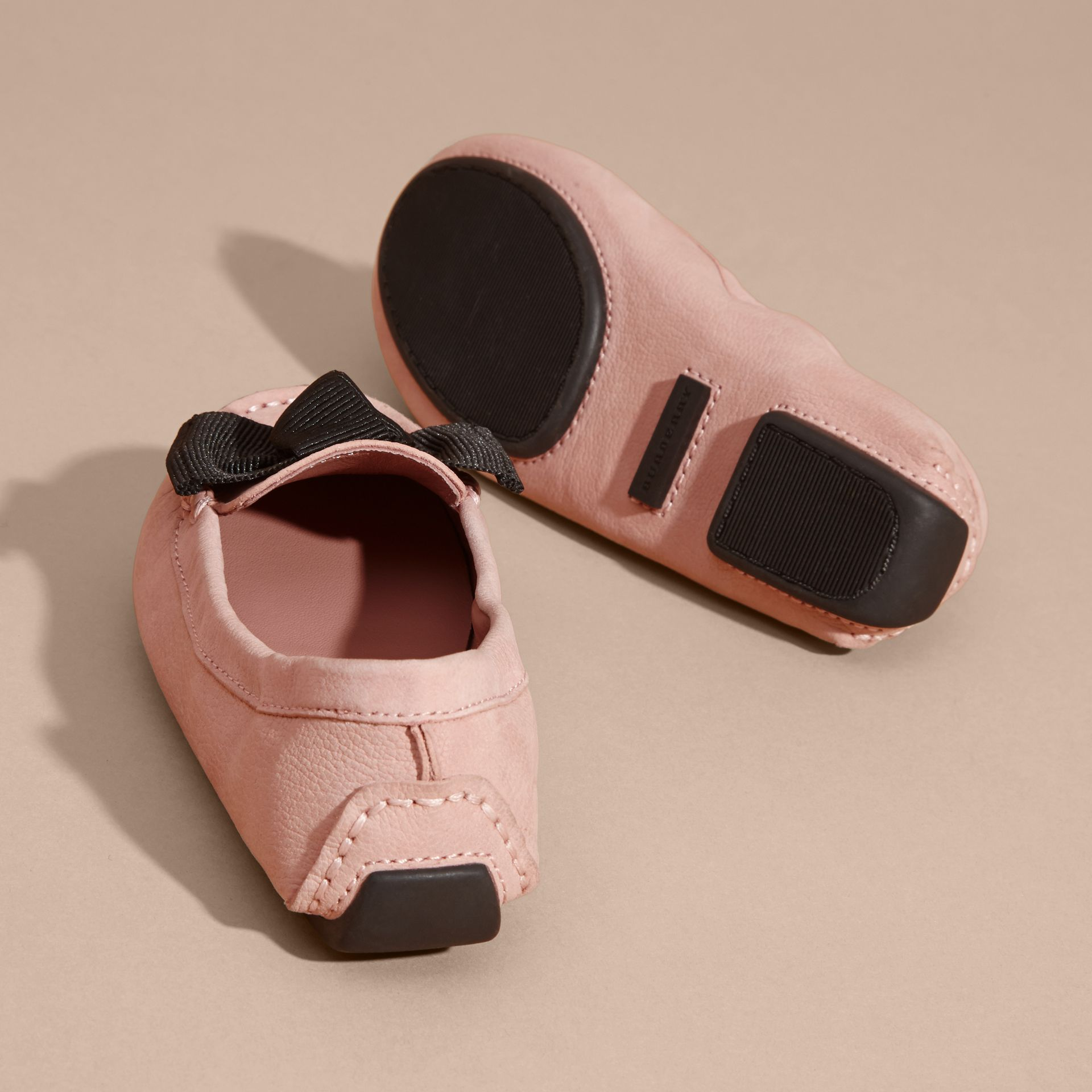 Ash rose Bow Detail Leather Loafer - gallery image 4