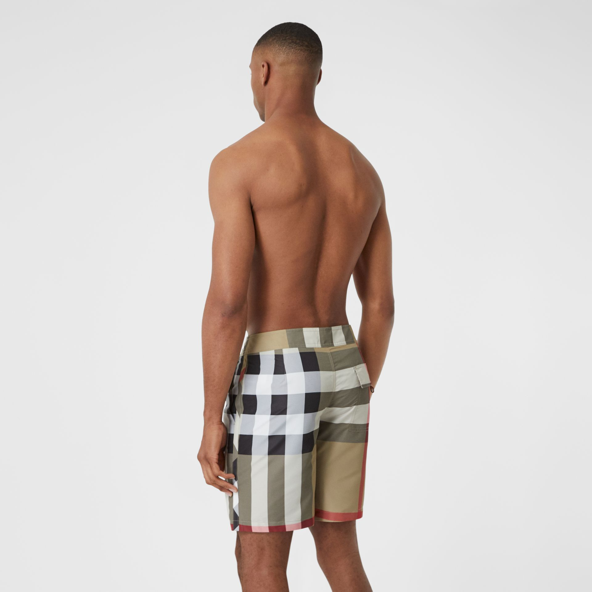 Check Swim Shorts in Archive Beige - Men | Burberry - gallery image 1