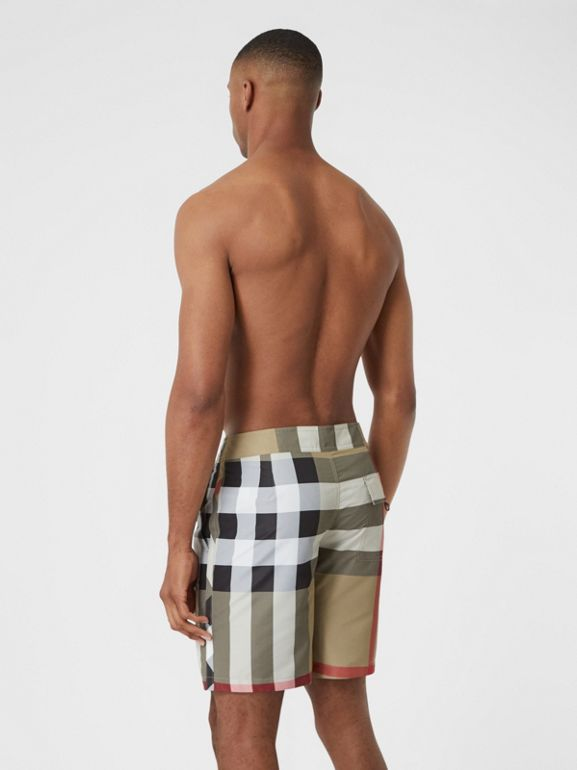 Check Swim Shorts in Archive Beige - Men | Burberry - cell image 1