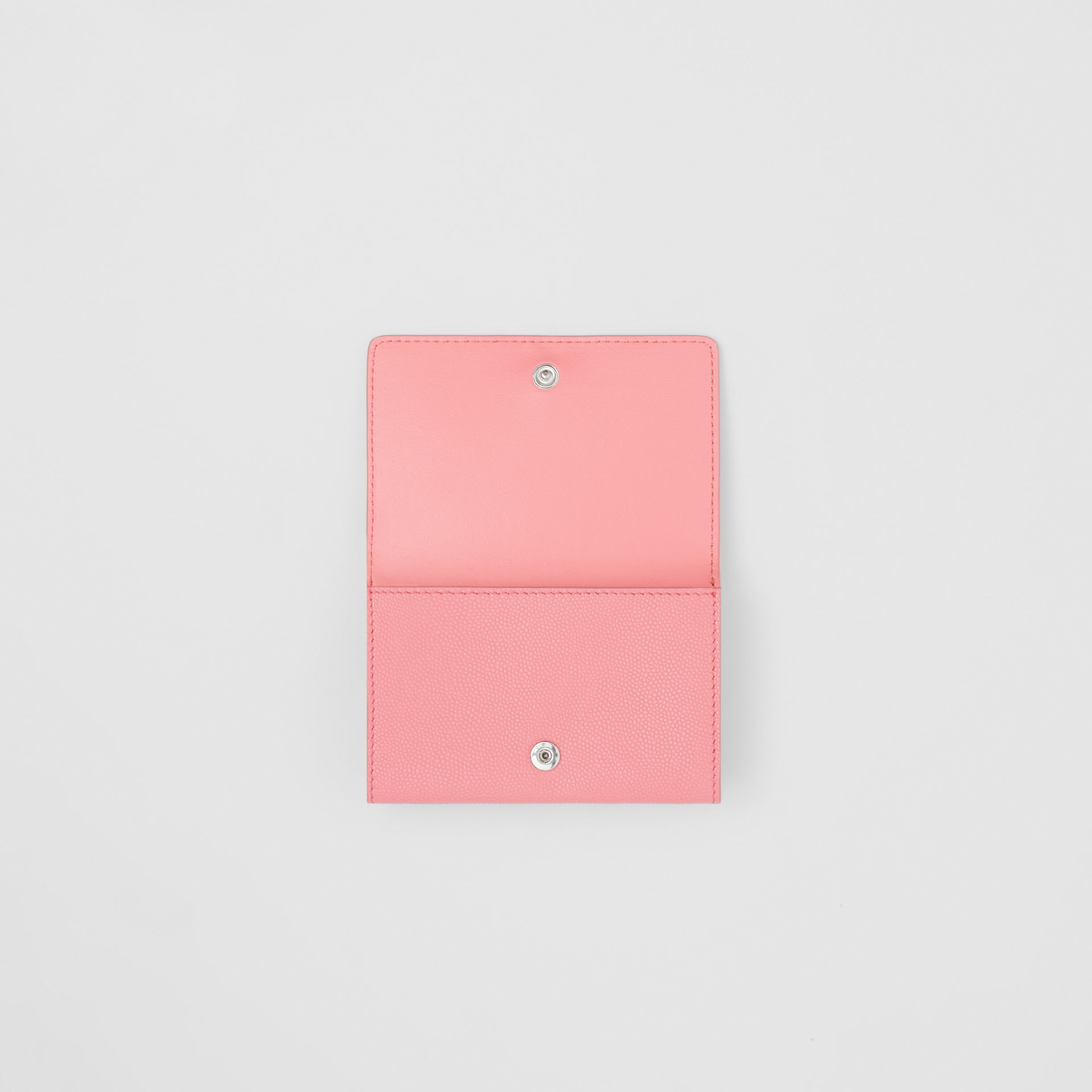 Small Grainy Leather Folding Wallet in Candy Floss/palladio - Women | Burberry - gallery image 5
