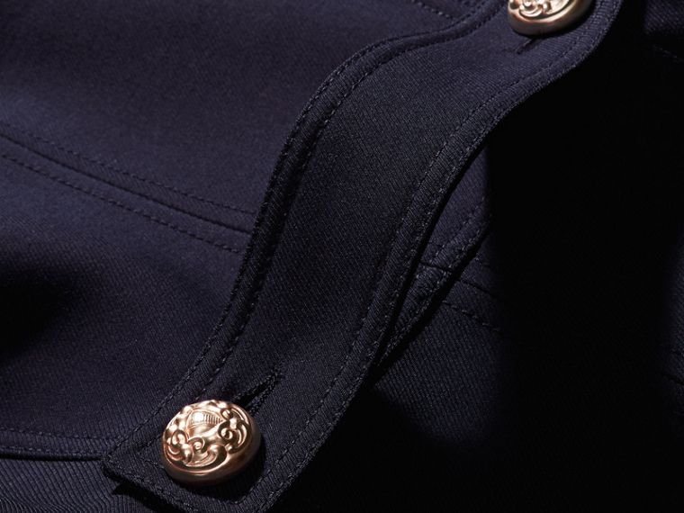 Ink blue Regimental Technical Wool Cotton Jacket - cell image 1