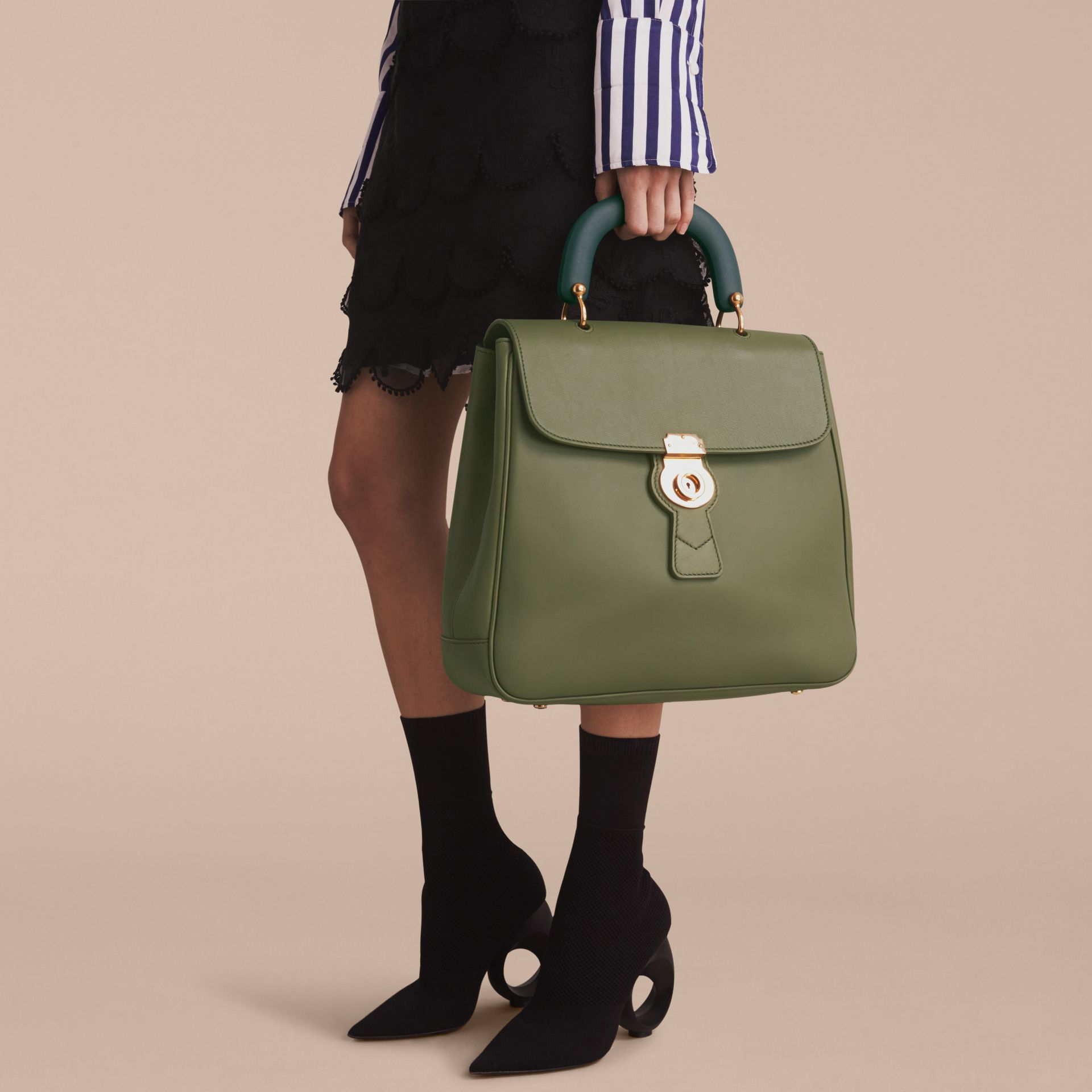 The Large DK88 Top Handle Bag in Moss Green - gallery image 7