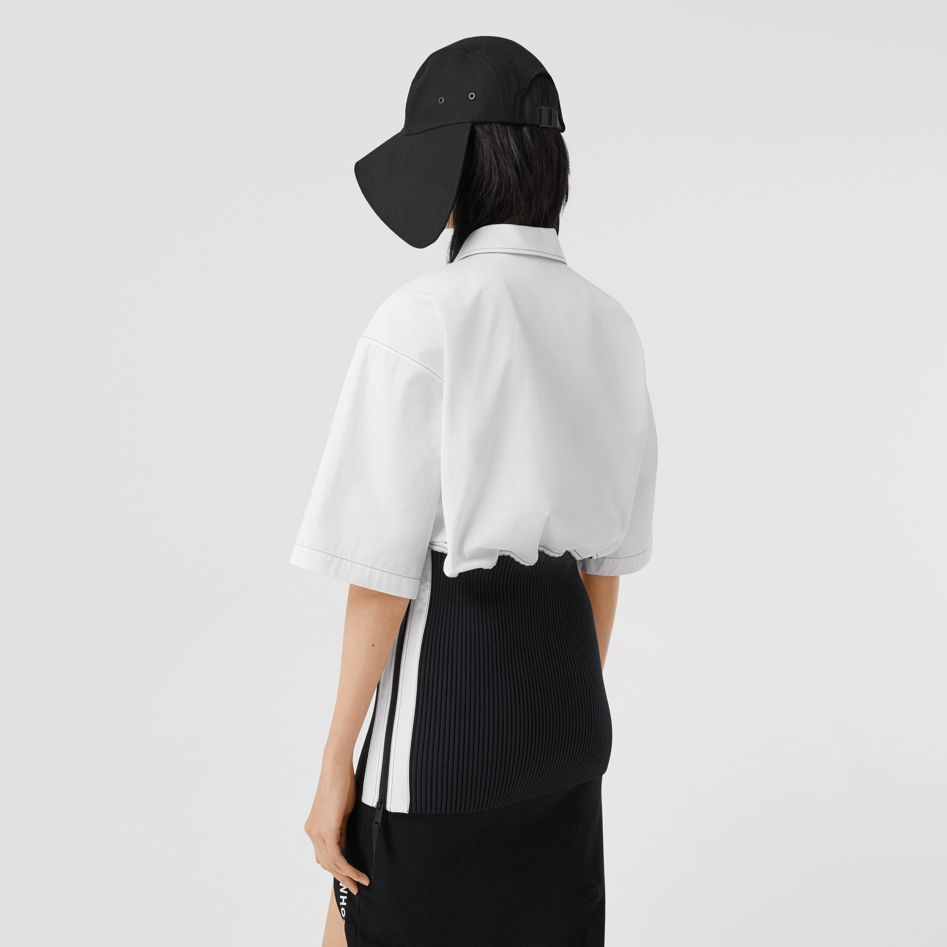 Объемная футболка с трикотажной отделкой (Оптический Белый) - Для женщин | Burberry - изображение 3