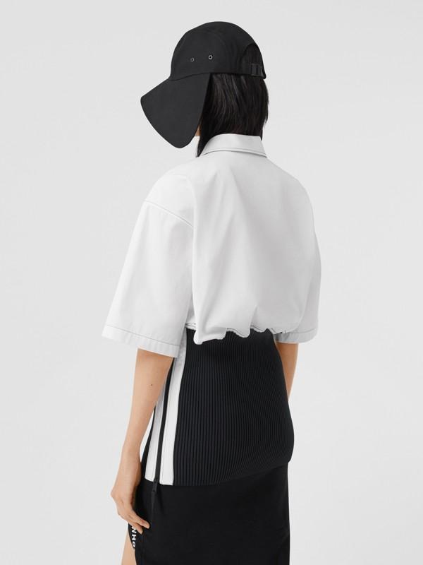 Объемная футболка с трикотажной отделкой (Оптический Белый) - Для женщин | Burberry - cell image 3