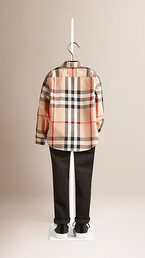 New classic Check Cotton Button-Down Shirt - Image 2