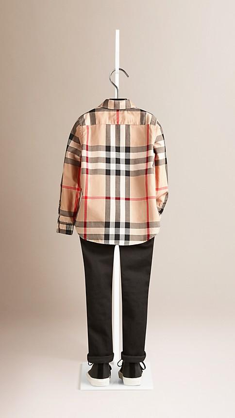 Nouveau check classique Chemise en coton check à col américain - Image 2