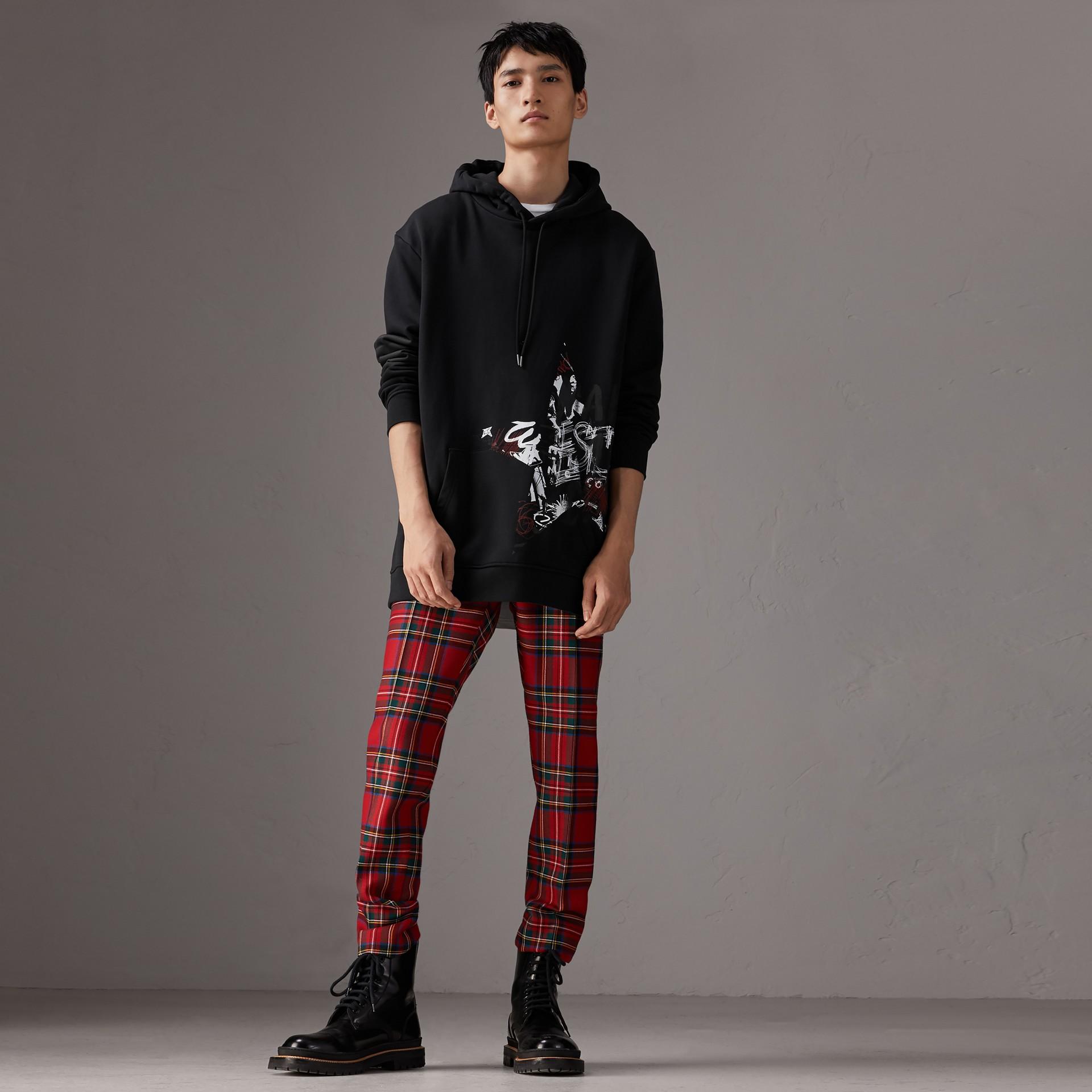 Burberry x Kris Wu Hooded Sweatshirt in Black - Men | Burberry United Kingdom - gallery image 0